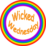 Wicked Wednesday in a rainbow circle